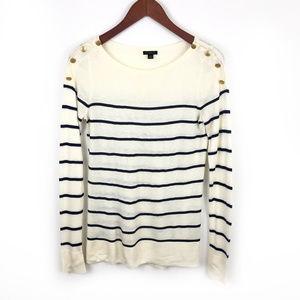 Ann Taylor Lightweight Cashmere Blend Knit Sweater